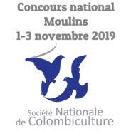 Les pigeons et tourterelles au Concours national de la SNC à Moulins